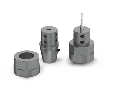 CQS-SH16-15701:  ER16 w/ 4mm Bore - Boring Adaptor w/ M19 x 1.0mm Nut and Locator Pin