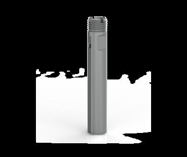 CQS-S16-1000-CSE:  ER16 Collet Sleeve 1.00'' Shank x 4.5'' OAL, w/ Flat,
