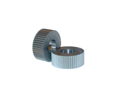 KDR-BPRB-480HS: Knurl Die BP-480/ 80 TPI RH spiral .312 OD X .125 ID x .156w HSS beveled edge