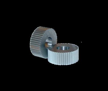 KDL-EPLB-216CO:  Knurl Die 90 ° LH, 1/2'' x .187 x .187 w/ 16 TPI, 25 Teeth Bevel Edge