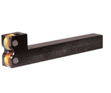 KHB-2EPR-625:  Compact Two Die Bump Knurl Holder 5/8'' shank, w/ 1.0''  Head Height, RH for EP