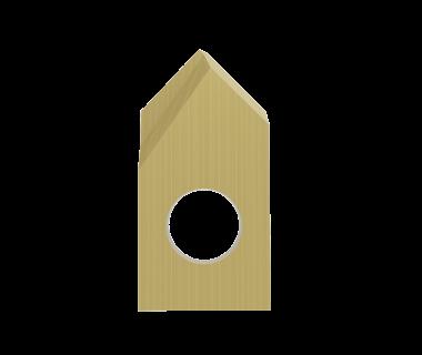 SDI-3082-PRM-TIN:  #3 Insert Spot Drill 82°, Pos. Grind, RH, .015 Point Flat,  Carbide w/ Tin